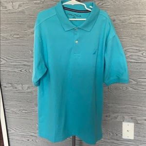 Solid Teal Classic Fit Deck Nautica Polo Shirt🏖🔥